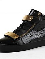 Черный-Мужской-Для офиса / На каждый день-ПолиуретанУдобная обувь-Ботинки