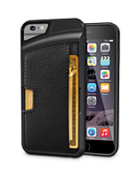 Protective Ultra-Slim TPU Leather Back Case for iPhone 6s 6 Plus