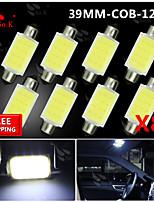 8x Festoon 39mm High Power COB SMD Light Dome Map Lamp Bulb 211-2 578 212-2