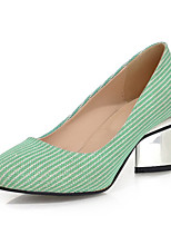 Women's Shoes Special Heel Shiny Striped Heels Office & Career/Party & Evening/Dress/Casual Black/Green/Pink