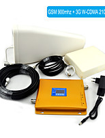 GSM / 3G W-CDMA Mobile Phone Dual Band Signal Booster , Signal Repeater + Log Periodic Antenna + Planar Antenna