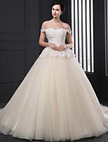 웨딩 드레스 - 샴페인 볼 가운 쿼트 트레인 튜브탑 튤