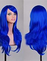 2016 produits de beauté 70 cm perruques cosplay bon marché perruques synthétiques pleins de couleur bleu