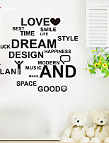 AWOO® New Wall Sticker Love And Dream Pattern Group On Behalf Of English customization