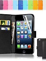 cassa di carta di cuoio del raccoglitore del supporto PU per iPhone 5c