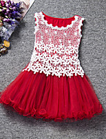 Girl's Cotton Summer Lace Net Gauze Tank Top Princess Dress