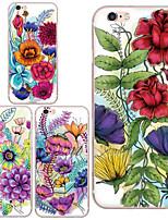maycari®flowers desabrochando TPU soft transparente de volta caso para iphone 6 mais / 6s mais (cores sortidas)