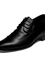 Men's Shoes Wedding / Office & Career / Casual Patent Leather Oxfords Black