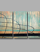 Ready to Hang Hand-Painted Oil Painting Canvas Three Panels 48
