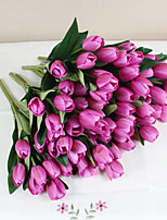 9-heads Home Deocr Mini Tulip Real Touch Tulip Artificial Flowers Bouquets