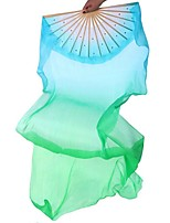 Dance Accessories Performance Stage Props Women's Performance / Training Silk Draped 1 Piece Green