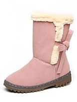 Women's Shoes Leatherette Low Snow Boots / Round Toe Boots Outdoor / Office & Career / Casual Black / Pink / Beige