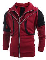 Herren Freizeit / Sport Activewear Sets - Einfarbig Lang Baumwolle / Acryl