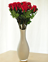 Bright Red Roses Simulation Flower Artificial Flower Home Decoration