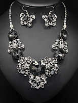 Hollow Butterfly Pendant Necklace & Earrings Jewelry Set fot Wedding Party