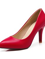 Women's Shoes Leatherette Stiletto Heel Heels / Pointed Toe Heels Outdoor / Dress / Casual Black / Red / White