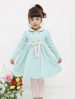Girl's Casual/Daily Polka Dot Dress,Cotton Spring Fall Long Sleeve