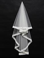 Wedding Veil One-tier Blusher Veils / Elbow Veils / Fingertip Veils Lace Applique Edge