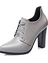 Women's Shoes Chunky Heel Bootie / Pointed Toe / Closed Toe Boots Dress / Casual Black / Red / Gray