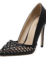 Women's Shoes Stiletto Heel Pointed Toe Heels Wedding / Party & Evening / Dress Black / Almond