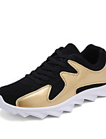 Unisex Athletic Shoes Spring / Fall Comfort Fabric Casual Flat Heel  Black / Red / Gold Sneaker