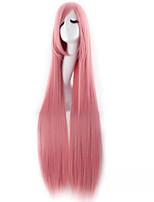 longue bande dessinée 100cm haute température fil cosplay femme perruque perruque synthétique rose