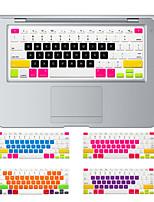 diseño caramelo colorido cubierta del teclado de silicona de la piel para el aire del macbook 13.3, MacBook Pro con retina 13 15 17 nos