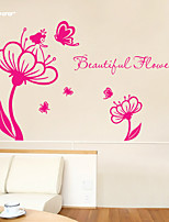 AWOO® New Flower Fairy Pattern Wall Art Decal Decoration Fashion  Wall Sticker Home Decor 3D Wallpaper for Living Room