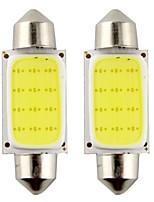 2pcs Festoon 39mm 3W 240lm 6000K COB LED White Light for Car Steering Light Bulb / Reading Lamp(DC12V)