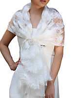 Wedding / Party/Evening / Casual Lace / Tulle Capelets Sleeveless Wedding  Wraps