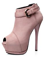 Women's Shoes Suede Stiletto Heel Heels / Peep Toe / Platform Heels Dress More Colors Available