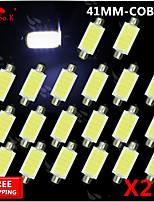 20x festón bombilla 42mm mazorca de alta potencia mapa luz superior de techo luz smd 211-2 578 212-2