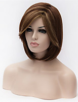 Europe And The United States The New Ms Brown Highlights Short Straight Hair Wig