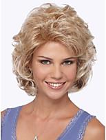 cheveux de longueur moyenne européenne Weave lumière perruque blonde cheveux