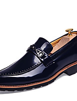 Men's Oxfords Formal Shoes Comfort Leather Summer Fall Office & Career Party & Evening Casual Flat Heel Blue Red Brown Black Flat