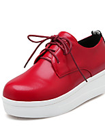 Women's Sneakers Spring Comfort Microfibre Casual Flat Heel Lace-up Red Black White