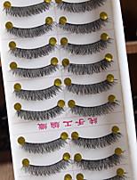 10 Pairs / Boxes Pure Manual False Eyelash Naked Makeup Eyelashes Cotton Black Terrier Supernatural Cross Section