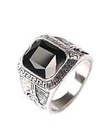 Men's Retro Exaggerated style Multi-section Box Jewels Alloy Ring