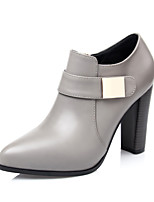 Women's Shoes Chunky Heel Bootie / Pointed Toe / Closed Toe Boots Dress / Casual Black / Gray