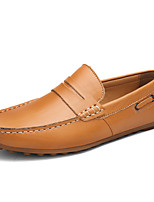 Men's Shoes Wedding / Office & Career / Party & Evening / Dress / Casual Nappa Leather Loafers Black / Brown