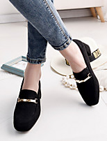 Women's Shoes Spring Vogue Chunky Heel Comfort Square Toe Heels Casual Black / Brown