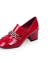 Women's Shoes Leatherette Low Heel Heels / Round Toe Heels Casual Black / Red / White