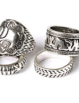 Men's Fashion personality exaggerated style elephant carved alloy joint ring suit
