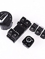 Iztoss 6pcs Set Chrome Headlight Window Mirror Switch For VW Passat B6 Jetta Golf MK5 MK6 CC TIGUAN