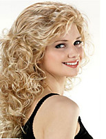 mode bouclés vagues de couleur dorée de perruques de cheveux synthétiques de haute qualité.
