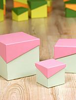 Boîtes Cadeaux ( Orange / Bleu ciel / Fuchsia / Jaune / Vert / Rose , Papier durci ) Thème classique - pourAnniversaire / Mariage /