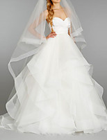 Wedding Veil One-tier Blusher Veils / Chapel Veils / Cathedral Veils Cut Edge