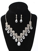 Women's Pendant Necklaces Rhinestone Drop Rhinestone Zinc Alloy Rhinestone Classic Jewelry ForWedding Party Special Occasion Birthday