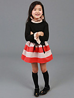 Girl's Casual/Daily Dress,Rayon Spring / Fall Black / Pink