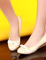 Scarpe Donna-Scarpe col tacco-Casual-Punta arrotondata-Zeppa-Finta pelle-Rosa / Beige